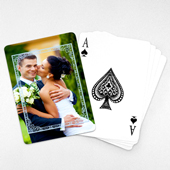 Wedding Anniversary Playing Cards, Blue Frame