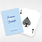 Personalized Wedding Playing Cards