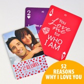 52 Reasons Why I Love You Playing Cards - Custom Back