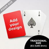 Bridge Style Selection - Custom Poker (63.5 x 88.9mm)