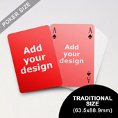 Simple Bridge Style Poker Size Custom Front and Back Playing Cards (63.5 x 88.9mm)