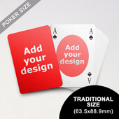 Ovate Bridge Style Poker Size Custom Front and Back Playing Cards (63.5 x 88.9mm)