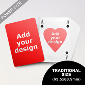 Heart-to-Heart Series – Custom Front and Back Playing Cards in Bridge Style (63.5 x 88.9mm)