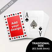 Timeless Frame - Custom Poker With Jumbo Index (63.5 x 88.9mm)