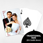Wedding Photo Playing Cards – Cranberry Lace (63.5 x 88.9mm)