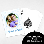Wedding Photo Playing Cards – Ocean Blue (63.5 x 88.9mm)