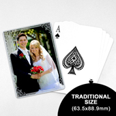 Wedding Photo Playing Cards – Silver Shine (63.5 x 88.9mm)