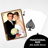 Wedding Photo Playing Cards – Cocoa Vintage (63.5 x 88.9mm)