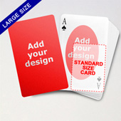 Large Playing Cards Series – Double Face Oval Back Poker
