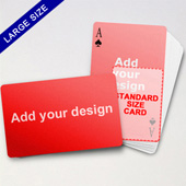 Large Playing Cards Series – Double Face Bleeding Poker (Landscape)
