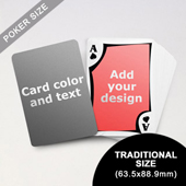 Modern Personalized Both Sides Playing Cards (63.5 x 88.9mm)