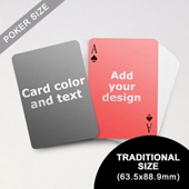 Simple Personalized Both Sides Playing Cards (63.5 x 88.9mm)