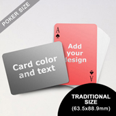 Simple Personalized Both Sides Landscape Back Playing Cards (63.5 x 88.9mm)