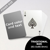 Classic Choice - Poker With Custom Message (63.5 x 88.9mm)