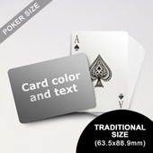 Classic Choice - Poker With Custom  Message (Landscape) (63.5 x 88.9mm)