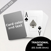 Jumbo Index Cards - Poker Size With Custom Message (63.5 x 88.9mm)