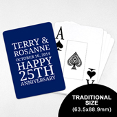 Save the Date - Playing Cards with Jumbo Index (63.5 x 88.9mm)