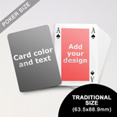 Classic Bridge Style Poker Size Personalized Both Sides Playing Cards (63.5 x 88.9mm)