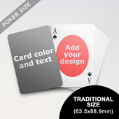 Ovate Personalized Both Sides Playing Cards (63.5 x 88.9mm)