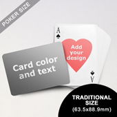 Heart-to-Heart Series – Custom Back Playing Cards (Landscape) (63.5 x 88.9mm)
