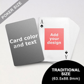 9)Centre Portrait Photo Personalized Both Sides Playing Cards (63.5 x 88.9mm)