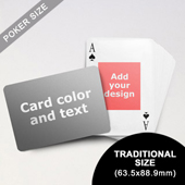 Centre Portrait Photo Personalized Both Sides Landscape Back Playing Cards (63.5 x 88.9mm)