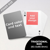 Top Portrait Photo Personalized Both Sides Playing Cards (63.5 x 88.9mm)