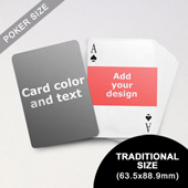 Landscape Photo Personalized Both Sides Playing Cards (63.5 x 88.9mm)