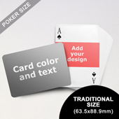 Landscape Photo Personalized Both Sides Horizontal Back Playing Cards (63.5 x 88.9mm)