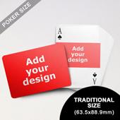 Landscape Photo Custom Font and Landscape Back Playing Cards (63.5 x 88.9mm)