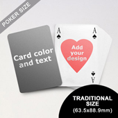 Heart-to-Heart Series – Custom Back Playing Cards in Bridge Style (63.5 x 88.9mm)
