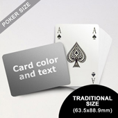 Bridge Style Selection - Poker With Custom Message (Landscape) (63.5 x 88.9mm)