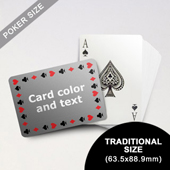 Timeless Frame - Poker With Custom Message (Landscape) (63.5 x 88.9mm)
