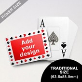 Timeless Frame - Custom Poker With Jumbo Index (Landscape) (63.5 x 88.9mm)