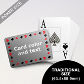 Timeless Frame - Poker With Custom Text & Jumbo Index (Landscape) (63.5 x 88.9mm)