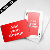 Bridge Size Playing Cards - Rectangular Back, Wide Front