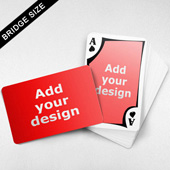 Bridge Size Playing Cards – Frame Back, Wide-angled Front