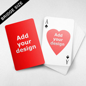 Bridge Size Playing Cards  - Heart Back