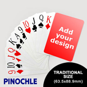 Pinochle Fun - Classic Choice with Jumbo Index (63.5 x 88.9mm)