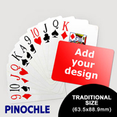 Pinochle Fun - Classic Choice with Jumbo Index (Landscape) (63.5 x 88.9mm)