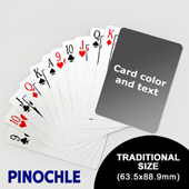 Pinochle with Personalized Message (63.5 x 88.9mm)