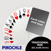 Pinochle wtih Personalized Message - Jumbo Index (63.5 x 88.9mm)