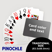Pinochle with Personalized Message - Jumbo Index - Landscape (63.5 x 88.9mm)
