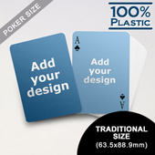 Plastic Poker Size Custom 2 Sides (63.5 x 88.9mm)