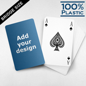 Personalized Bridge Style Plastic Playing Cards
