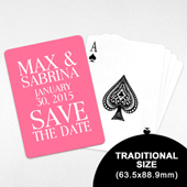 Save-the-Date Custom Playing Cards (63.5 x 88.9mm)