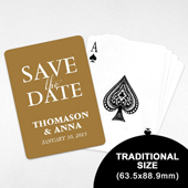 Personalized Save the Date Playing Cards (63.5 x 88.9mm)