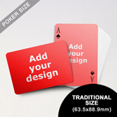 Simple Custom Front and Landscape Back Playing Cards (63.5 x 88.9mm)