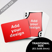 Modern Custom Front and Landscape Back Playing Cards (63.5 x 88.9mm)