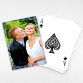 Wedding Photo Playing Cards – Purple Charm